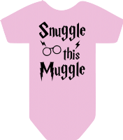 HOGWARTS SNUGGLE THIS MUGGLE BODYSUIT - INSPIRED BY HARRY POTTER